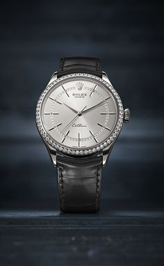 The Rolex Cellini Time in 18 ct white gold with a bezel set with 62 diamonds and a rhodium dial. This new model reinterprets the timeless codes of classic watchmaking with an elegant modernity. #RolexOfficial