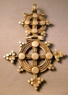 Rare Antique Coptic Cross Medieval Jewelry, Ancient Jewelry, Antique Jewelry, Cross Jewelry, Tribal Jewelry, Gold Jewelry, Ethiopian Jewelry, Christian Artwork, Art Nouveau