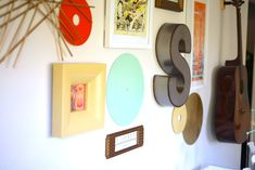 vintage modern music themed nursery // baby boy room or gender neutral nursery