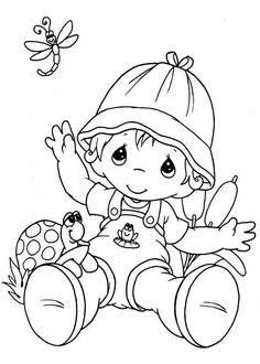 Firefly, Firefly Clapping Hands Coloring Page: Firefly