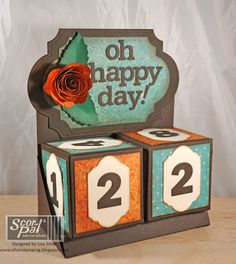 Perpetual Calendar by Lisa Silver -Project ideas using your Scor-Pal