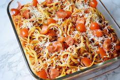 spiralized sweet potato spaghetti casserole recipe veggie bullet