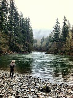 Why I fish.   Washougal River, WA March 3, 2012