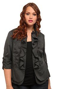 Gorgeous and feminine jacket for the office. Spice up your work wardrobe! #torrid