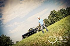 Senior Portrait with Truck  www.simplysouthernstudio.com