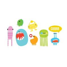 Monster Set by Ankepanke from Tattly Temporary Tattoos. Quality, non-toxic and made in the USA. Temp Tattoo, Tattoo Set, Temporary Tattoo, Tattoo Pain, Cute Monsters, Little Monsters, Tattly Tattoos, Gun Tattoos, Nice Tattoos