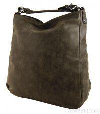 Velká kabelka z broušené kůže TH2015 tmavě hnědá