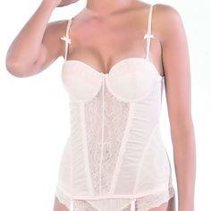 Affinitas Women's Pale Pink 'Ida' Bustier