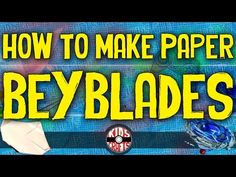 How to make a Paper Beyblade that spins fast! - Kids Crafts - YouTube