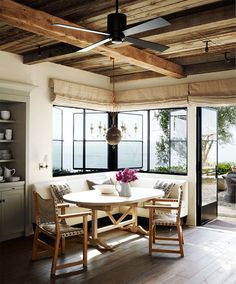 AMAZING! Beamed Ceilings, Iron Windows and Doors and the lanai with the dark wicker seating....and look at the view! Mediterranean dwelling overlooks Salt Creek Beach