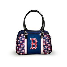 1c5eb07854b Boston Red Sox Handbag With Team Logo And Leather Handles ( 100) ❤ liked on
