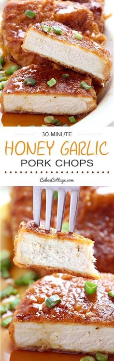 Double dipped and deliciously crunchy pork chops, coated in a sticky honey garlic sauce that is out of this world. So good, you'll want to use this sauce on everything!