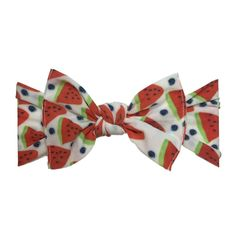 Baby Bling Bow Knot Headband in Watermelon Berry | Shop Soft & Stretchy Baby Headbands at SugarBabies