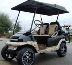 Do you suffer from golf cart embarrassment when you are in your neighborhood, golf course, or RV park? Try these helpful tricks to build a custom golf cart on a limited budget. Golf Cart Covers, Golf Mk4, Golf Chipping Tips, Electric Golf Cart, Custom Golf Carts, Best Golf Courses, Golf Putting, Golf Tips For Beginners, Play Golf