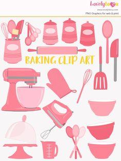 Baking Utensils, Kitchen Utensils, Kitchen Tools, Clipart Design, Baking Tools, Clips, Home Improvement Projects, School Design, Graphic Illustration