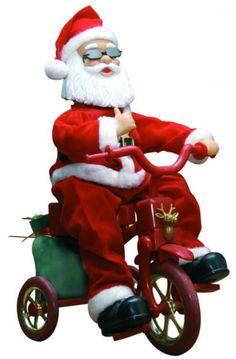 Père Noël automate à vélo Tricycle, Ronald Mcdonald, Bella, Fictional Characters, Art, Papa Noel, Xmas, Stuff Stuff, Art Background