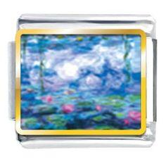 Monet''s Nympheas Water Lilies Italian Charm (Jewelry)  http://www.1-in-30.com/crt.php?p=B000CC0BMS  B000CC0BMS