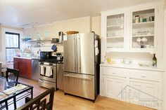 421 Sterling Place - Limestone in Prospect Heights Nyc Real Estate, Real Estate Sales, Brooklyn Kitchen, Boerum Hill, Prospect Heights, Carroll Gardens, Brooklyn Heights, Rental Apartments, French Door Refrigerator
