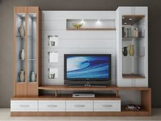 Latest 40 Modern tv wall units - TV cabinet designs for living rooms 2020 Tv Unit Decor, Tv Wall Decor, Modern Tv Wall Units, Modern Tv Cabinet, Tv Cabinet Design, Tv Wall Design, House Design, Tv Unit Furniture, Living Room Tv Unit Designs
