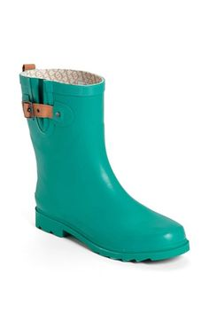 Chooka 'Top Solid Mid Height' Rain Boot (Women) available at Bootie Boots, Shoe Boots, Shoes, Nordstrom Boots, Rain Gear, Stylish Boots, Designer Boots, Mid Calf Boots, Hunter Boots