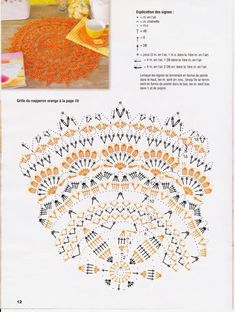 Best 12 Kira scheme crochet: Scheme crochet no. Filet Crochet, Crochet Doily Diagram, Crochet Doily Patterns, Crochet Chart, Thread Crochet, Irish Crochet, Crochet Doilies, Knit Crochet, Crochet Round
