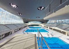 London Olympic Aquatics Centre, UK, 2012. Photograph by Hufton + Crow