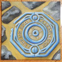 SPQR Roman Manhole Cover (#5 in the Grateness of Rome Series) Original Acrylic…