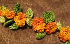 """Master class crochet necklace """"Spring mood"""". Free tutorial."""