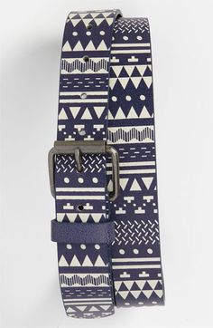 Topman Pattern Faux Leather Belt | Nordstrom