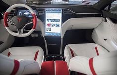 customized Tesla model S interior
