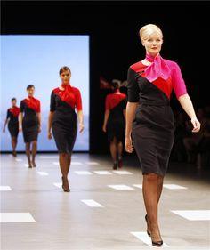 Qantas new uniform 2013