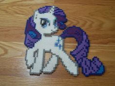 Rarity My little Pony perler beads by simplyputmyself on deviantart
