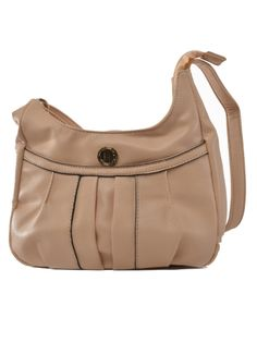 Add A Dash Of Colour To Your Style By Choosing This Beige Sling Bag From Lavie Also Available In Green Has Four Pocket