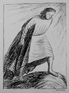 Ernst Barlach (German, 1870-1938). Demut / Humility,lithograph, 1916, 295x210mm.