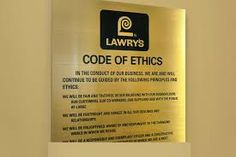A Companies Code Of Ethics Is Based On Getting Their Employees To Act  According To Company