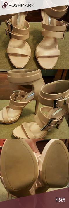 "BCBGENERATION, BNIB Bare pink Gracie style heels, 4"", tried on, never worn,  NWOT BCBGeneration Shoes Heels"