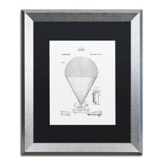 Airship Patent 1913 by Claire Doherty Framed Graphic Art in White