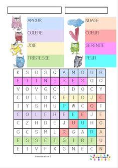 La couleur des émotions : mots cachés (2 niveaux) – MC en maternelle
