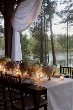 Floral and decor ideas from top Southern designers for decorating farm tables. Photos of farm tables used in weddings.