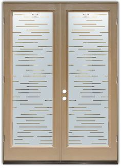 Finer Lines - Double Entry Doors Hand-crafted, sandblast frosted and 3D carved. Available as interior or entry door in 8 woods and 2 fiberglass. Slab door or prehung any size, or as glass insert only. Our fun, easy to use online Glass and Door Designer gives you instant pricing as YOU customize your door and glass! When you're all finished designing, you can place your order right there online! Doors ship worldwide from Palm Desert, CA