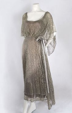 Silk lace dress, c.1923, from the Vintage Textile archives.