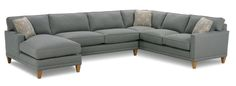 Shop for the Rowe Townsend Contemporary Sofa Sectional Group at Belfort Furniture - Your Washington DC, Northern Virginia, Maryland and Fairfax VA Furniture & Mattress Store Belfort Furniture, Sofa Furniture, Club Furniture, Fine Furniture, Furniture Ideas, Fabric Sectional, Sectional Sofas, Couches, Contemporary Sofa
