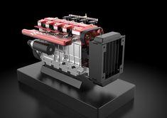 TOYAN FS-L400 14cc Inline 4 Cylinder Four-stroke Water-cooled Nitro En - EngineDIY Nitro Engine, Gasoline Engine, Gear Pump, Rc Model, Inline, Rc Cars, Airplane, Engineering, Ship