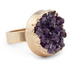 oversized amethyst ring http://rstyle.me/n/h846vr9te