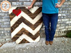 36x36 Arkansas Chevron State LOVE sign Handpainted by j2jlocals, $90.00