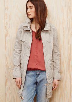 Mantel mit verstaubarer Kapuze kaufen | s.Oliver Shop