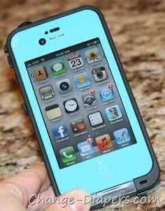 @LifeProof iPhone Cases via @chgdiapers - LOVE this teal, WATERPROOF case!