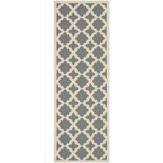 Safavieh Indoor/ Outdoor Courtyard Geometric-pattern Anthracite/ Beige Rug (2'3'' x 6'7'') | Overstock.com Shopping - Great Deals on Safavie...