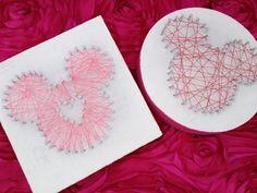 DIY Mickey String Art // Inspired By Dis