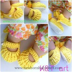 Crochet Baby Booties Free crochet baby shoes pattern...